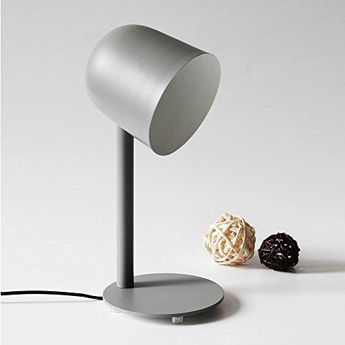 SKC Lighting-lampe de table Moderne Simple Creative solide fer de lecture de lecture Lampe de table d'étude créative Chambre Salon chevet Décoration Lampe de table (Couleur : Gris)