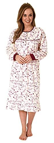 NORMANN-Wäschefabrik Edles Damen Nachthemd in Kuschelinterlock-Qualität - auch in Übergrössen - 212 210 96 105, Farbe:Creme, Größe:44-46