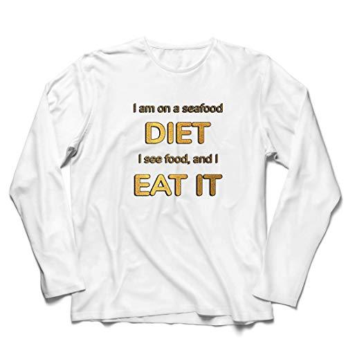 lepni.me Heren T-shirt Ik ben op een Zeevruchten Dieet, Grappig Voedsel Liefhebber