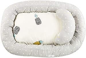 BELUPAI Baby Bassinet for Bed Newborn Bassinet Baby Nest Snuggle Bed Crib Mattress Baby Sleeping Nest for Nursery Bedroom Travel 74x51cm