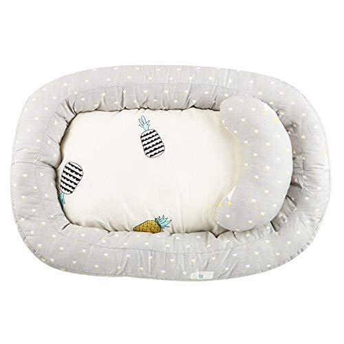 Asdomo Baby Bassinet voor Bed, Zacht Katoen Baby Lounger en Baby Nest Draagbare Baby Co-Sleeping Ledikanten & Cradles Lounger Kussen Ademend Baby Bed voor Slaapkamer Reizen Zoals getoond