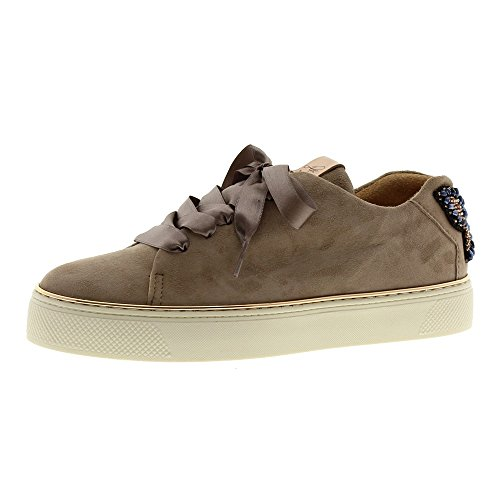 Zapatos Mujer Casual Sneakers Alpe 3579 Taupe 38