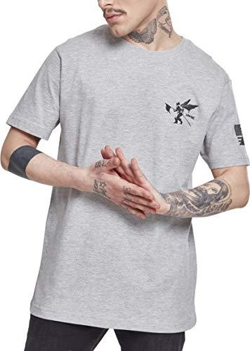 Linkin Park - Camiseta de Manga Corta para Hombre, diseño de Bandera de Estados Unidos y Logotipo Impreso, Hombre, Camiseta, MC152, Gris, Medium