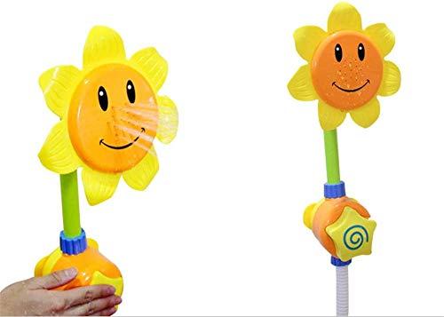 Turtle Story Juguetes regalo de cumpleaños para niños bebé dibujos animados girasol forma ducha grifo agua natación baño juguete jxnb