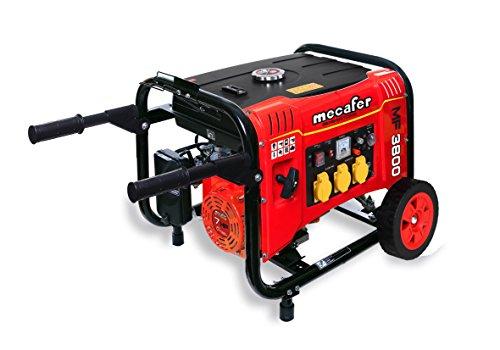 Mecafer 450138 MF3800 Groupe électrogène sur roues 3500 W