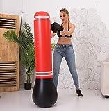 DWST Aptitud Bolsa de Boxeo, Boxeo Inflable Bolsa, autoportante Objetivo Soporte Vaso Rojo Inflable Columna Columna Vertical Huelga Inicio Bolsa de Boxeo de la Aptitud Pelota de Boxeo