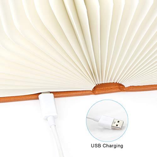 Aibesser Faltbare Buch Lampe LED Buchlampe PU-Leder - 4