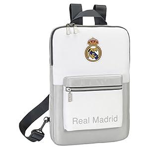 41VCn3gjEXL. SS300  - Safta SF-611624-766-Funda portatil 15,6 hombreras Extra, diseño Real Madrid, Unisex, Multicolor, 40 cm