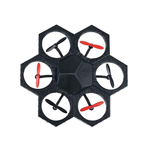 Drone teledirigido – Drone programable – Mini dron teledirigido mediante una aplicación – Drone modulable, con soporte de poliestireno para el modo hower Craft negro y rojo Airblock MR99085