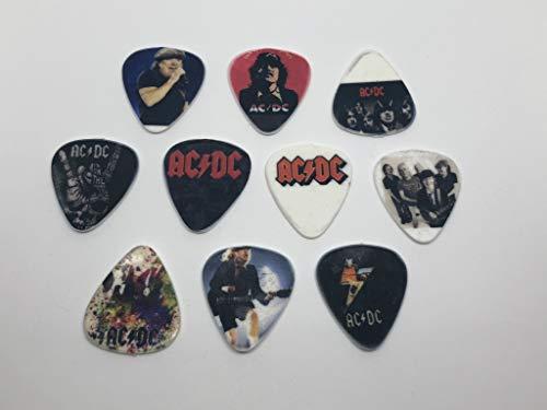 ACDC Gitarrenplektren (10 Plektren / 10 verschiedene Designs)