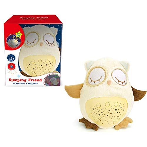 Urisgo Baby Sleep iluminación led Soft Toy led Night Lamp Peluche con música y Estrellas proyector Light Baby Toy para niños