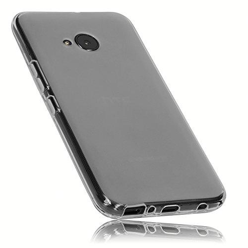 mumbi Hülle kompatibel mit HTC U11 Life Handy Hülle Handyhülle, transparent Weiss