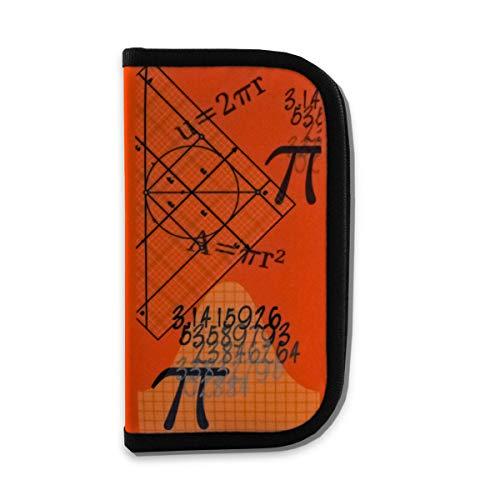 Zirkel- und Mathematik-Set im praktischen Etui mit Reißverschluss, 12-teilig (orange)