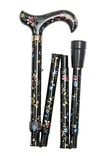 Classic Canes - Bastón plegable, diseño floral