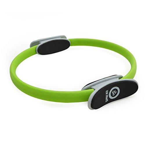 Anillo de pilates/de yoga ZenPower - dispositivo de entrenamiento para un entramiento de fuerza y resistencia eficaz, Anillo con un diámetro de 38cm - Color: verde