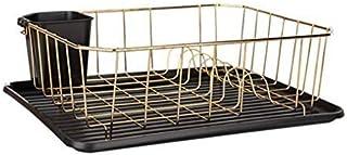 Support à égouttoir - Etagère d'organisation pour le rangement des couverts en acier inoxydable dans une cuisine avec bac ...
