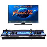 [3400 HD Retro Games] Pandoras Box 12 Arcade Video Game Console 720P Game System with 3400 Games Supports PC TV 2 Players
