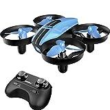 SANROCK RC Mini Drohne für Kinder und Anfänger, UDI U46 Drone Quadcopter  mit Höhenhalt, Spielzeugdrohne für Kinder, Farbe blau