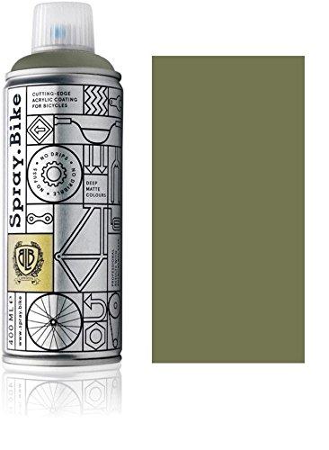 Fahrrad Lackspray in versch. Farben - Keine GRUNDIERUNG notwendig - Acryllack/Lack Spray in 400 ml Spraydose, Matt- und Klarlack Optik möglich (Olivgrün Parsons Green, Matt)
