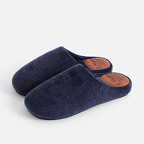 COQUI Slippers Hombre,Zapatillas de algodón para el Piso Interior del hogar Zapatillas de Pareja cálidas y Simples Zapatillas de algodón para el hogar de Invierno-Caqui_44-45