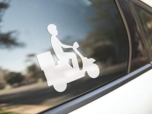 Dozili - Adhesivo de vinilo antipolvo para moto, scooter, motocicleta, bicicleta, mensajero, divertido, bonito, dueño de scooter, dueño/vinilo calcomanía de copa para parachoques, portátil, ventana de coche, regalo de 6 pulgadas