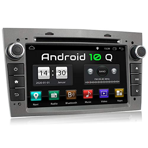 XOMAX XM-D03LA Autoradio mit Android 10 passend für Opel Corsa, Astra, Vectra, Zafira etc. I 2 GB RAM, 32 GB ROM I GPS Navigation, DVD, CD, USB, SD I Bluetooth, 18 cm Touchscreen