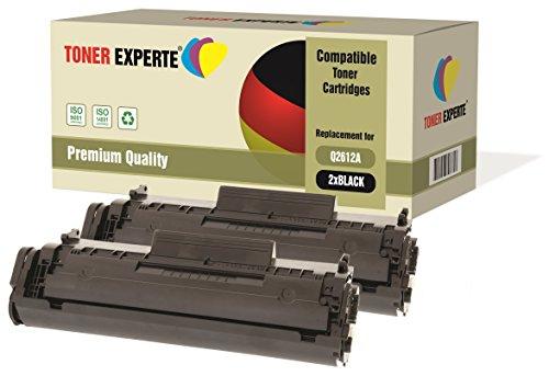 2-er Pack TONER EXPERTE® Premium Toner kompatibel zu Q2612A 12A für Laserjet 1010, 1012, 1015, 1018, 1020, 1020+, 1022, 1022N, 1022NW, 3010, 3015, 3020, 3030, 3050, 3052, 3055, M1005, M1319F MFP