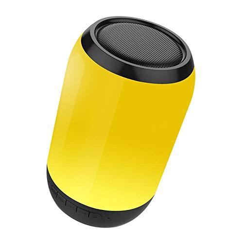 Y-hm Altavoz Bluetooth portátil con Estilo Perfec Portátil Colorido LED Luz Inalámbrica Bluetooth Altavoz FM Radio TF Treble Subwoofer con Mic (Color : Black)