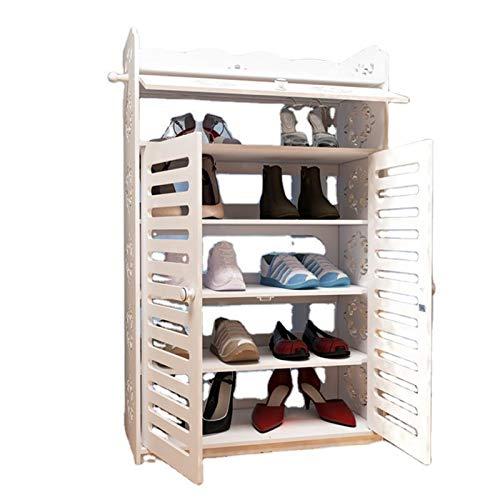 Estante de zapatos de almacenamiento de metal SISTEMA DE ALMACENAMIENTO CON PUERTAS ZAPATOS ACCESORIOS POR PORTÁPERA DE ZAPACIO DE ALMACENAMIENTO DE ALMACENAMIENTO DE ALMACENAMIENTO Caja de zapatos se