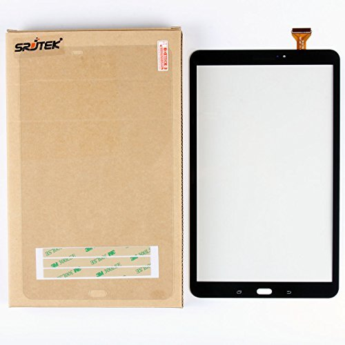 """SRJTEK Touch Screen Replacement Parts for Samsung Galaxy Tab A 10.1"""" T580 T585 SM-T580 SM-T585 Front Panel,Glass Assembly Repair Parts (NO LCD, NO Instructions Black"""