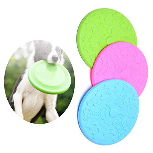 N/C Frisbee para Perros Animado, 3 Arandelas de Goma Blanda, Juguete Intelectual básico para Perros Frisbee, Utilizado para Deportes al Aire Libre, Jardines, Parques y Juguetes para niños