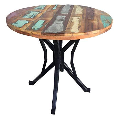 Mathi Design Indy – Esstisch, rund, Massivholz, recycelt