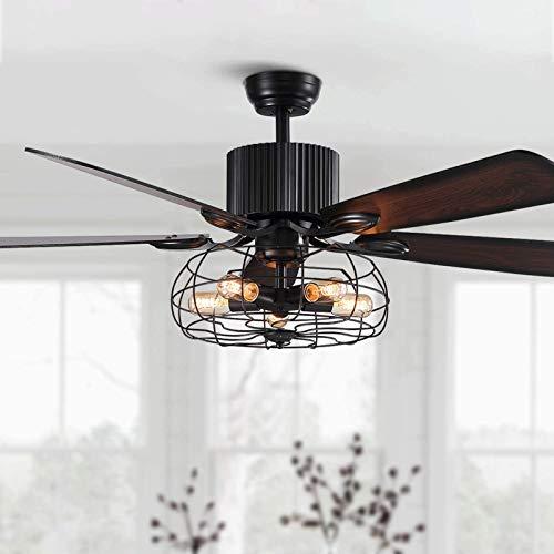 JAKROO Moderno Ventiladores De Techo con Luces, con Mando A Distancia, Velocidad del Viento Ajustable, para Sala De Estar, Comedor, Dormitorio, Pasillo, Oficina