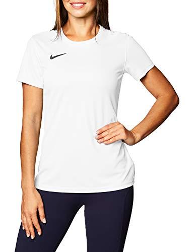 Nike Dry Park VII W Maglietta a Maniche Corte Donna, Bianco (White/Black), XL