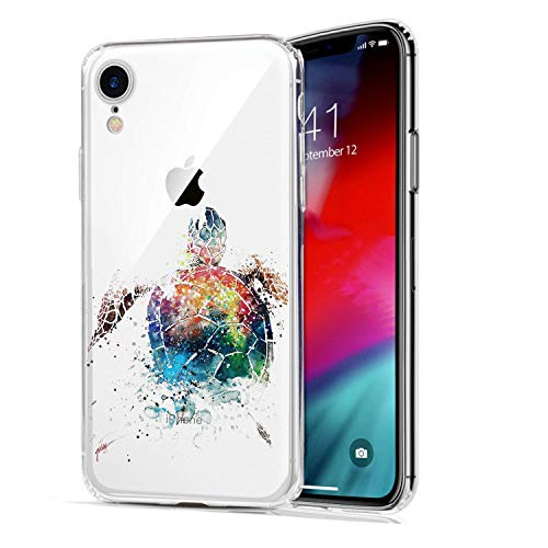 HUIYCUU Case Compatible with iPhone XR Case,Animal Sea Turtle Pattern Slim Fit Soft TPU Protective Cover Clear Design Funny Thin Cute Skin Novelty Bumper Back Case for iPhone XR 9,Painted Design