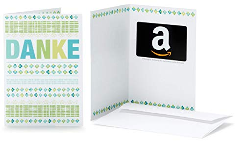 Amazon.de Geschenkkarte in Grußkarte (Danke)