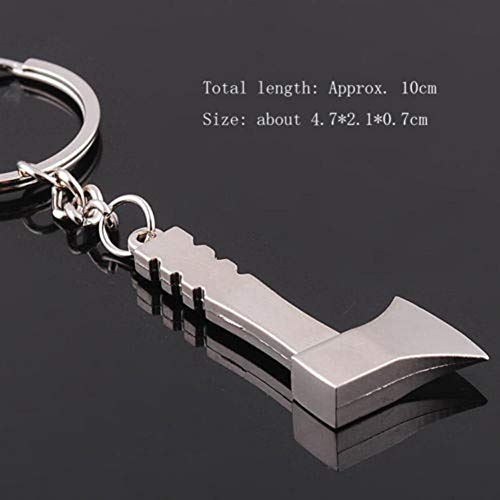 YCEOT Einzigartiges Design niedlich Metall axt Beil anhänger Mini Werkzeug Spielzeug schlüsselanhänger schlüsselanhänger schön Geschenk
