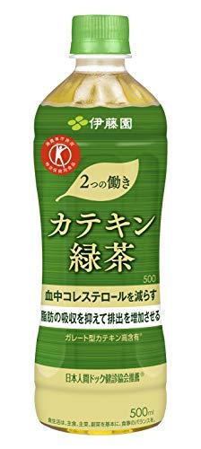 伊藤園 2つの働き 特定保健用食品 カテキン緑茶 500X24