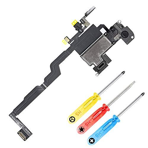 MMOBIEL Repuesto Altavoz Auricular y Sensor luz Ambiental Cable Flex Incl Mic Compatible con iPhone XS 5.8 pulg. y htas.