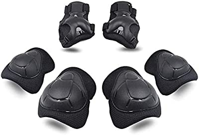 SKL Knee Pads for Kids Protective Gear Knee and Elbow Pads with Wrist Guards 2-8 Years Toddler Boys Girls for Skating Cycling Balance Bike Rollerblading Scooter