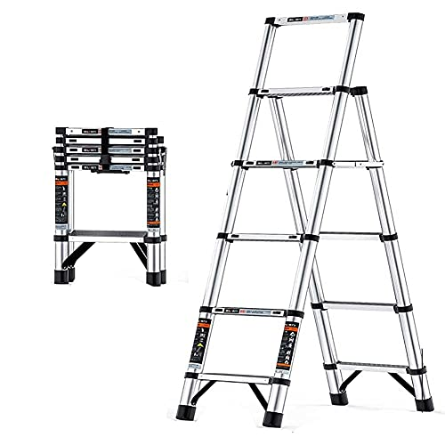 Escaleras Plegables Escalera telescópica Multiusos telescópica, Almacenamiento Que Ahorra Espacio, escaleras Extensibles...