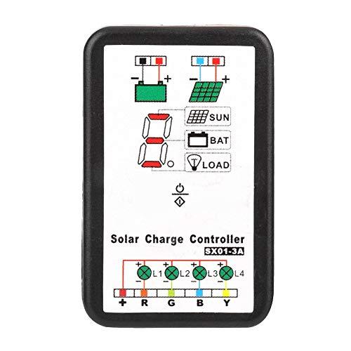PWM Solarladeregler 6V 12V Intelligenter Solarregler Solarpanel-Laderegler Solar Panel Regler für Lithium- und Ni-Mh-Batterien, Solarladegerät Controller