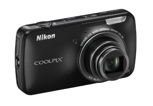 """Nikon Coolpix S800c Fotocamera Digitale Compatta, 16 Megapixel, Zoom 10X, 3200 ISO max, LCD Touchscreen 3,5"""", colore: nero [Versione EU]"""