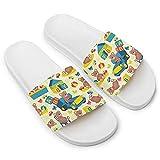 N&W Bears Slippers for Women Men (White)