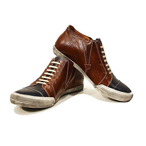 PeppeShoes Modello Emiliano - EU 42 - US 9 - UK 8-27 cm - Handgemachtes Italienisch Bunte Herrenschuhe Lederschuhe Herren Braun Mode Sneakers Lässige Schuhe - Rindsleder Weiches Leder - Schlüpfen