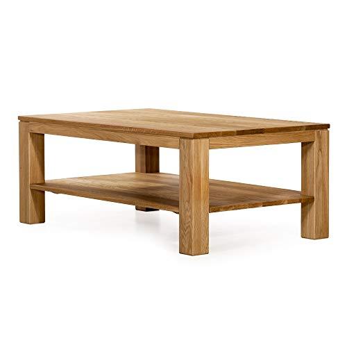 Marca Amazon -Alkove - Hayes - Mesa de centro rectangular de madera maciza con balda (roble salvaje)