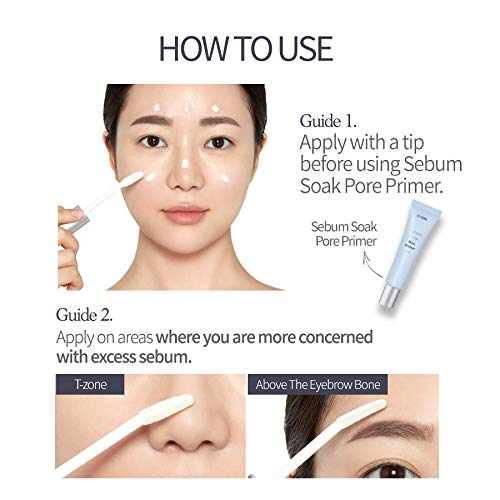 ETUDE HOUSE Sebum Soak T-zone Base | Sebum Balance for Oily Skin with the First Step of Your Daily Makeup Routine | Oil Barrier | Kbeauty
