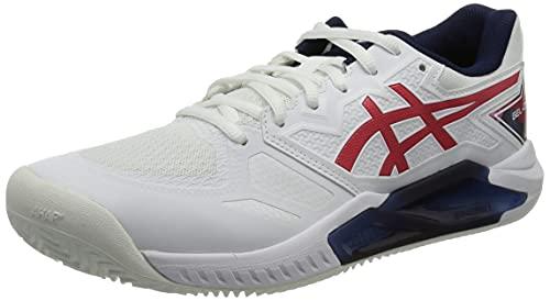 ASICS Gel-Challenger 13 Clay L.E, Zapatillas de Tenis Hombre, Color Blanco clásico, 44.5 EU