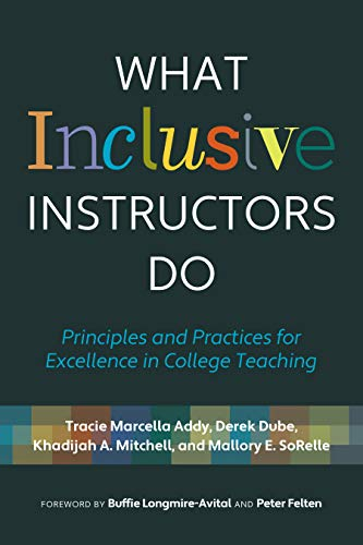 Compare Textbook Prices for What Inclusive Instructors Do: Principles and Practices for Excellence in College Teaching  ISBN 9781642671933 by Addy, Tracie Marcella,Dube, Derek,Mitchell, Khadijah A.,SoRelle, Mallory E.