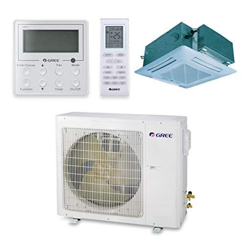 Gree 18,000 BTU 16 SEER Ceiling Cassette Ductless Mini Split Air Conditioner Heat Pump 208/230V